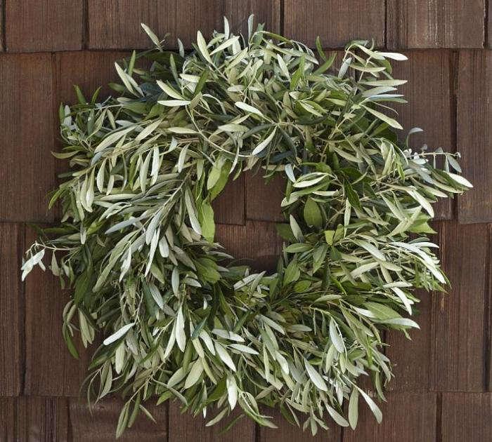 Live Olive Leaf Amp Myrtle Wreath