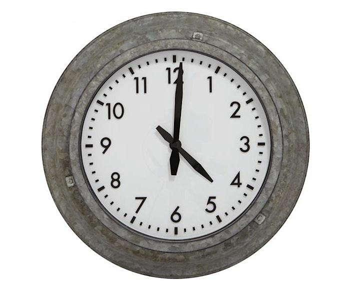 black outdoor clock