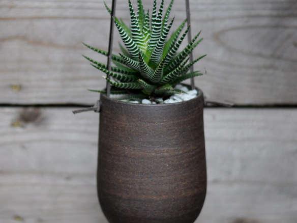 Modern Simple Dark Brown Hanging Planter