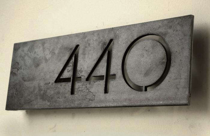 Modern House Numbers Offset