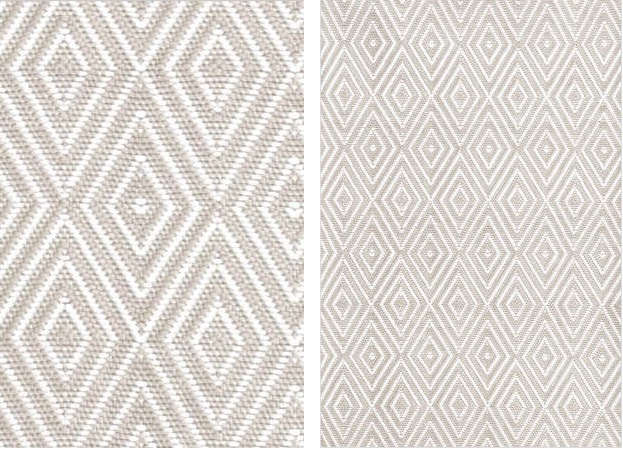 Diamond Platinum/White Indoor/Outdoor Rugs