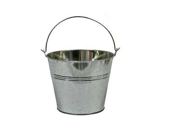 6 in galvanized metal pail for Galvanized metal buckets small