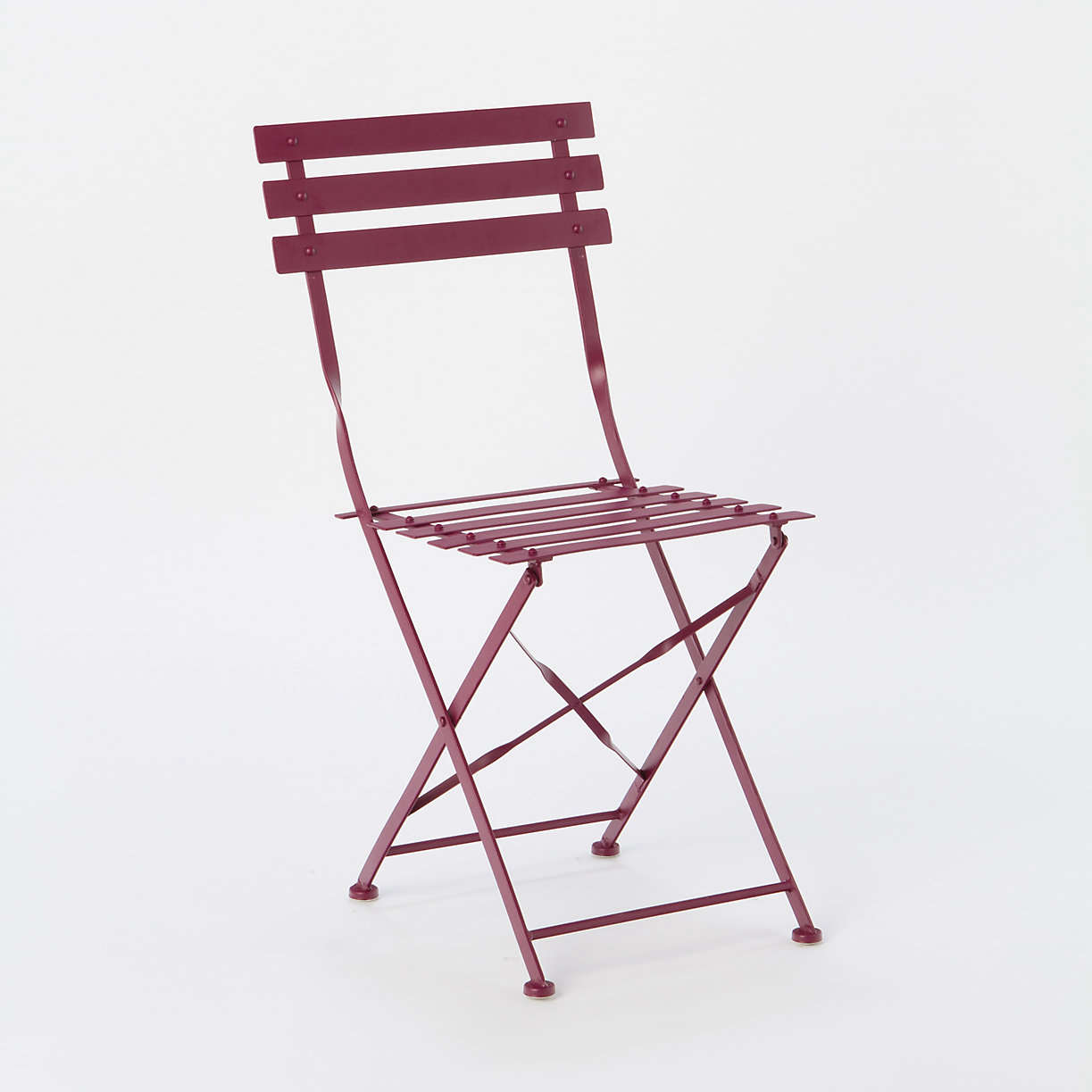 French bistro chairs metal - Painted Metal Bistro Chair Set