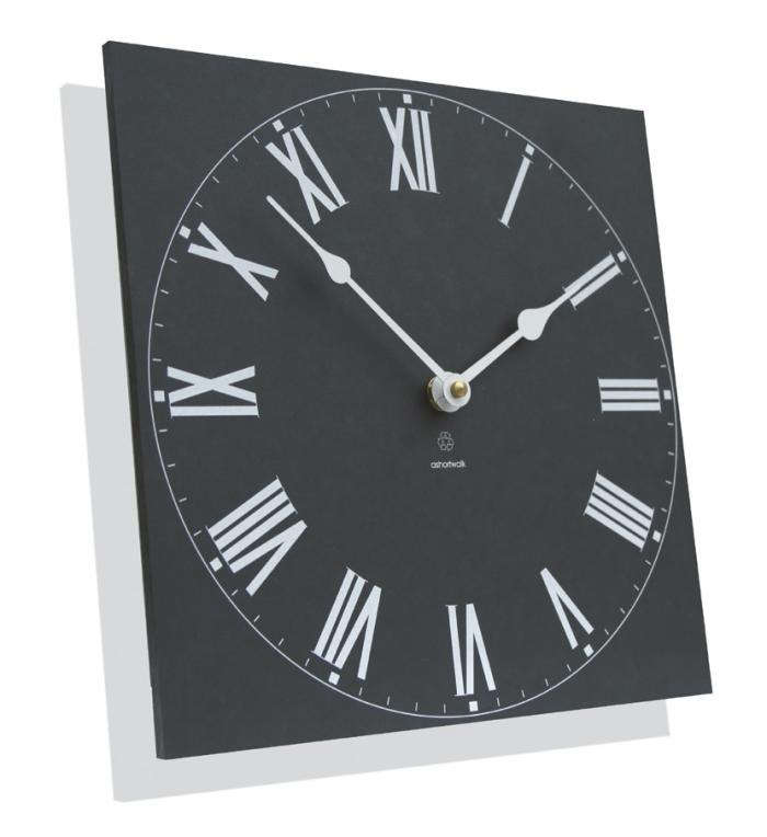 above measuring 10inches square the recycled traditional outdoor clock features roman numerals it looks and feels like slate but is made in the uk from