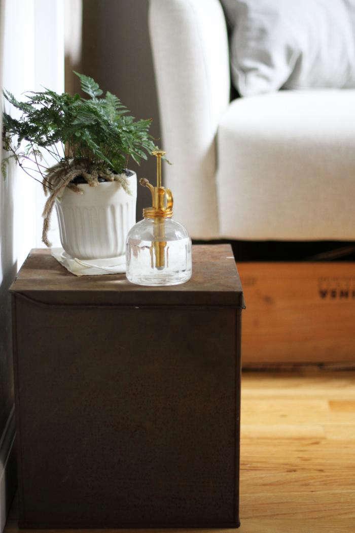 Tiny Apartment Storage: Hide Potting Soil In Plain Sight