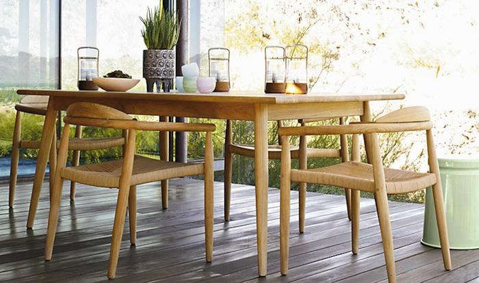 Attirant ... Sized Tables, All With Clean, Tapering Lines And A Solid Teak  Construction Perfect For Patio Seating In The Spring And Indoor Use In The  Winter.