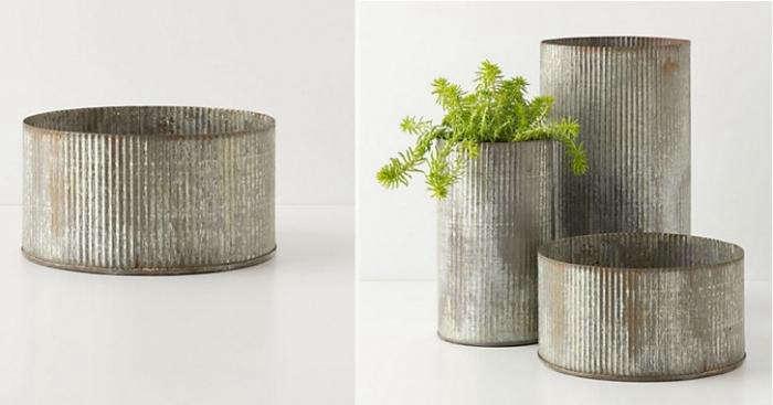 Design Sleuth: Corrugated Zinc Planter - Gardenista on zinc trough planter, zinc planter trays, zinc finish,