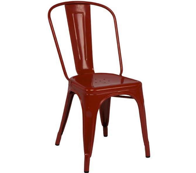 design sleuth red metal bistro chairs gardenista