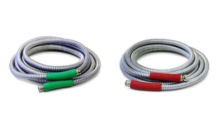 Incroyable Above: The Armadillo Garden Hose Has A Galvanized Steel Outer Shell Over  Reinforced Nylon Grade Tubing. The Couplings Are Nickel Plated And  Crush Proof ...