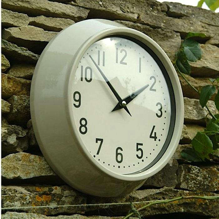 ... A Rustic Zinc Finish Measures 12.5  Inches In Diameter; Currently On  Sale For $29.95. The Coordinating Crate And Barrel Outdoor Thermometer Is  $39.95.