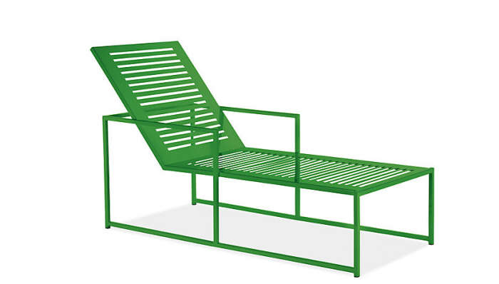 Color In The Garden: A New Chaise Lounge
