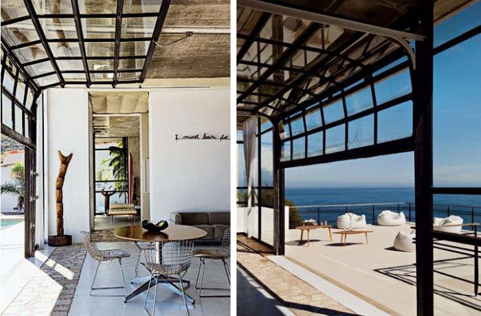 Above: Borrowed From The Garage: A Picture Window Retracts To Open A Dining  Room To The Sea In Cape Town. Images Via Marie Claire Maison.