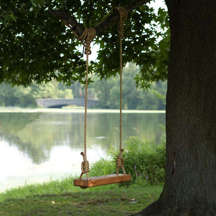 The Ultimate Swing Made From Reclaimed Wood Gardenista