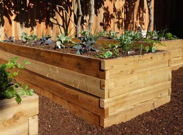 above the 3 by 8 foot cedarbrook cedar raised garden bed kit includes interlocking red cedar boards with pre drilled holes to accommodate easy to insert - Raised Garden Bed Kit