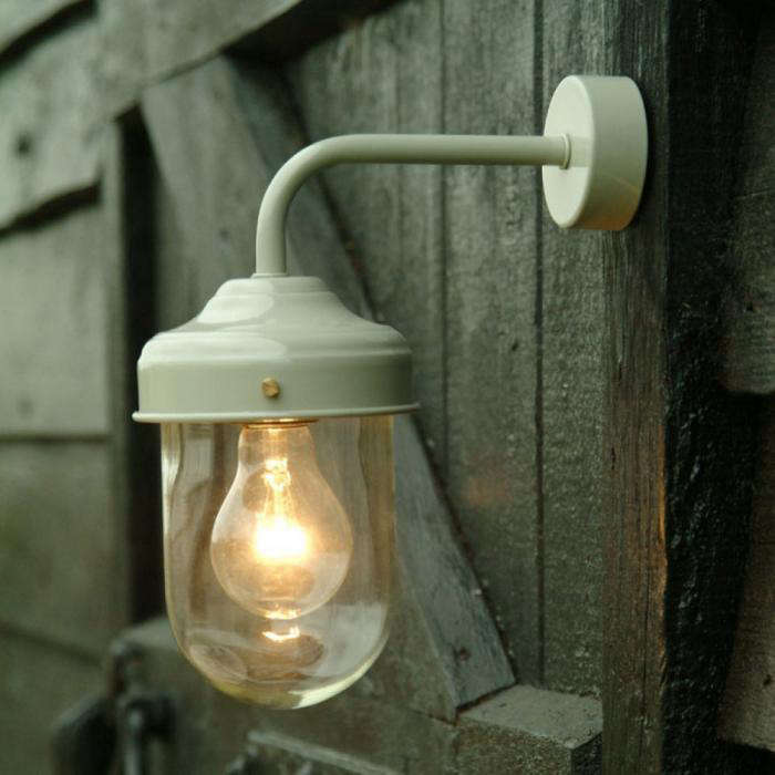 10 easy pieces barnhouse style outdoor lights gardenista above exterior clay barn lamp also available in cream 45 at willow stone workwithnaturefo