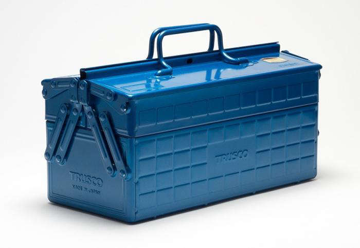 Merveilleux The Trusco Tool Box Is Manufactured In Japan Of Stamped Steel With A Blue  Enameled Finish