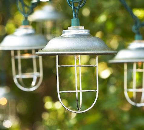 Above: Commercial Grade Heavy Duty Outdoor String Lights; 54 Feet Long With  24 Medium Base Sockets; Available In White, Black, Or Green; Prices Start  At $89 ...