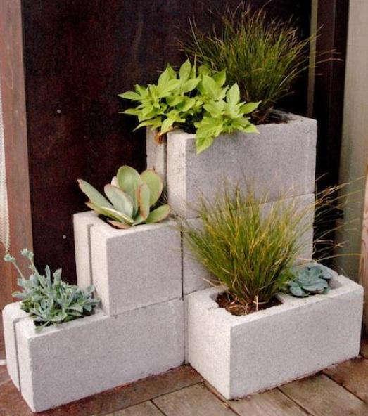 cement block home depot diy concrete block planters gardenista