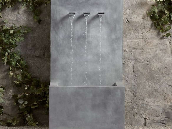 weathered zinc wall fountain