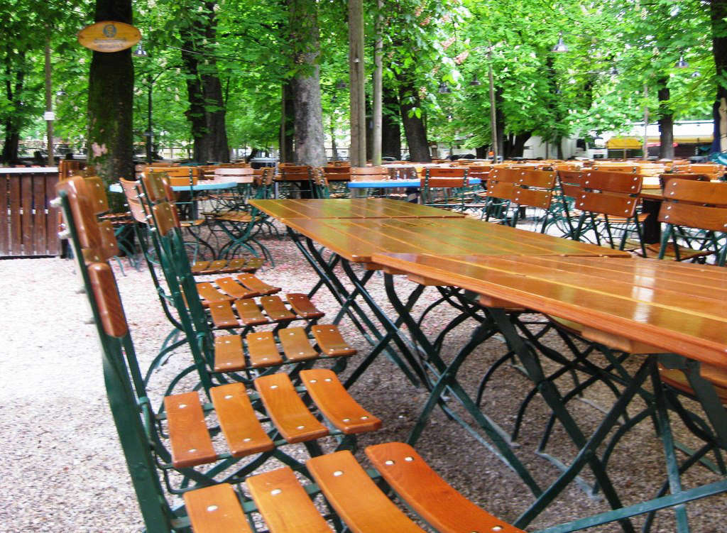 A beer garden in Munich. Photograph by Andrew Nash via Flickr.