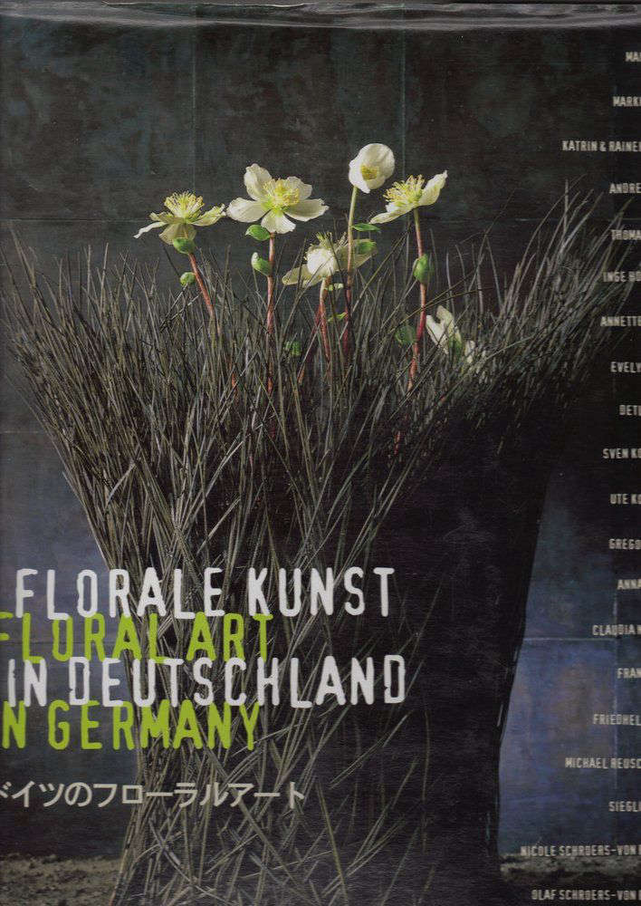 Florist Ursula Wegener's book, Floral Kunst in Deutschland, was published in 1997. A used hardcover copy is $140.51 on Amazon.