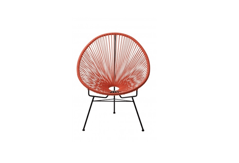 An orangeReplica Acapulco Chair is $119 from Replica Furniture.