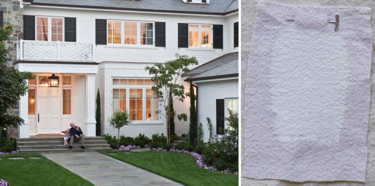 excellent exterior house design. Interior designer Meg Joannides of MLK Studio in LA recently completed this  Brentwood Park home Curb Appeal Architects 10 Favorite White Paints Gardenista
