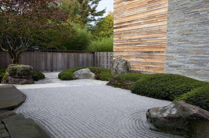 marc peter keane japanese style landscape with raked gravel and rocks - Garden Ideas Japanese