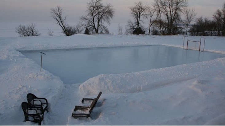 Superb Backyard Ice Hockey Rink Iron Sleek Amazing Pictures