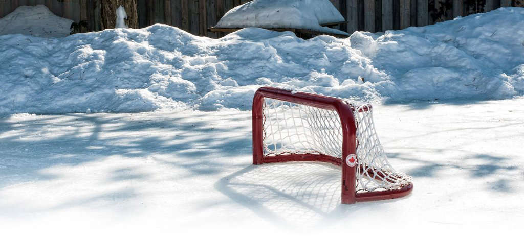 Hardscaping 101 Backyard Ice Skating Hocky Rink Goalie
