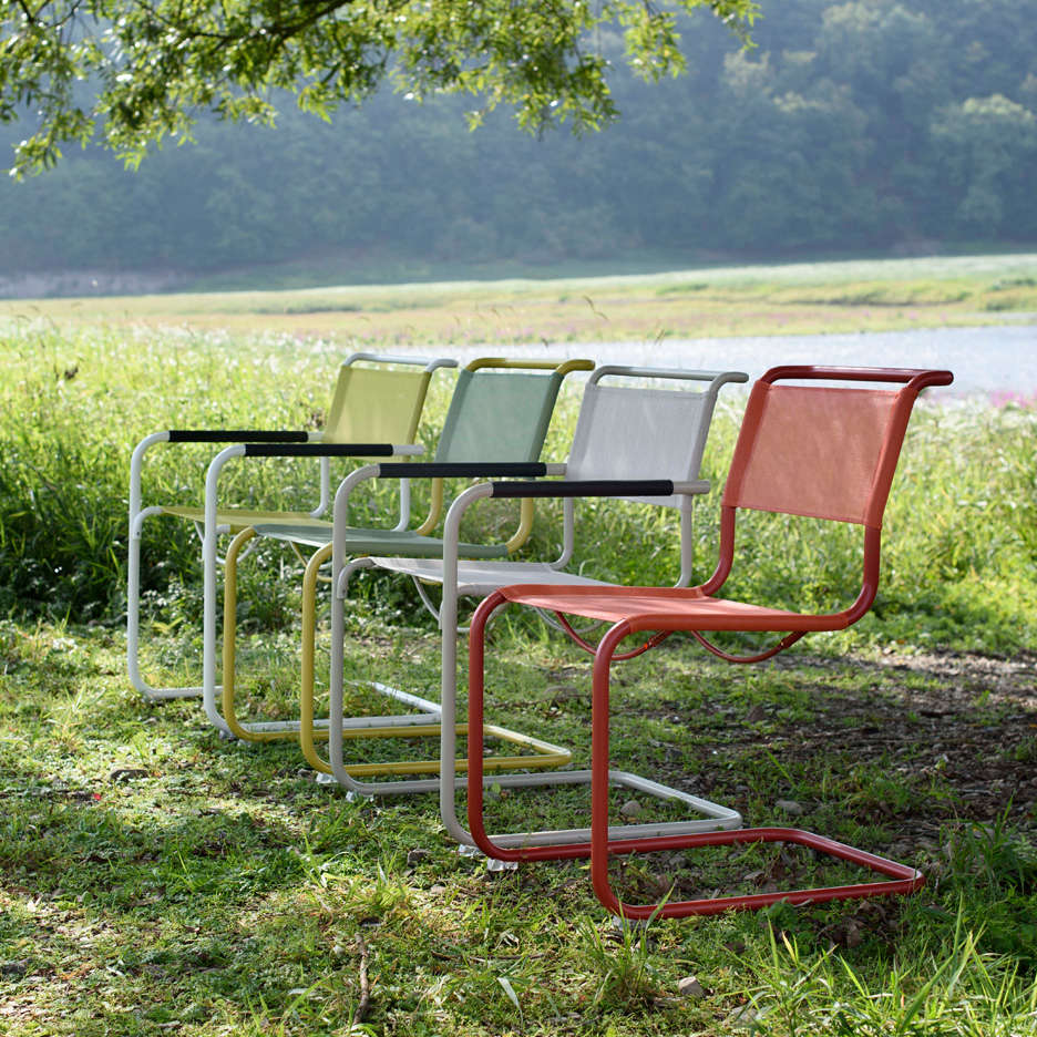 Above Made of the same polished tubular steel as Thonetu0027s indoor chairs the All Seasons collection of chairs will be treated with a weather-resistant ... & Outdoor Furniture: New All-Weather Classics from Thonet - Gardenista