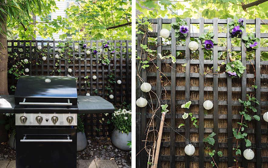 Christine Chang Hanway, London garden, Garden as exterior room, black fencing, Matthew Williams | Gardenista