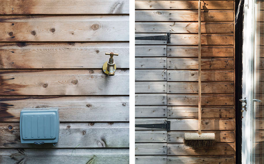 Christine Chang Hanway, London garden, Garden as exterior room, garden shed, Matthew Williams | Gardenista