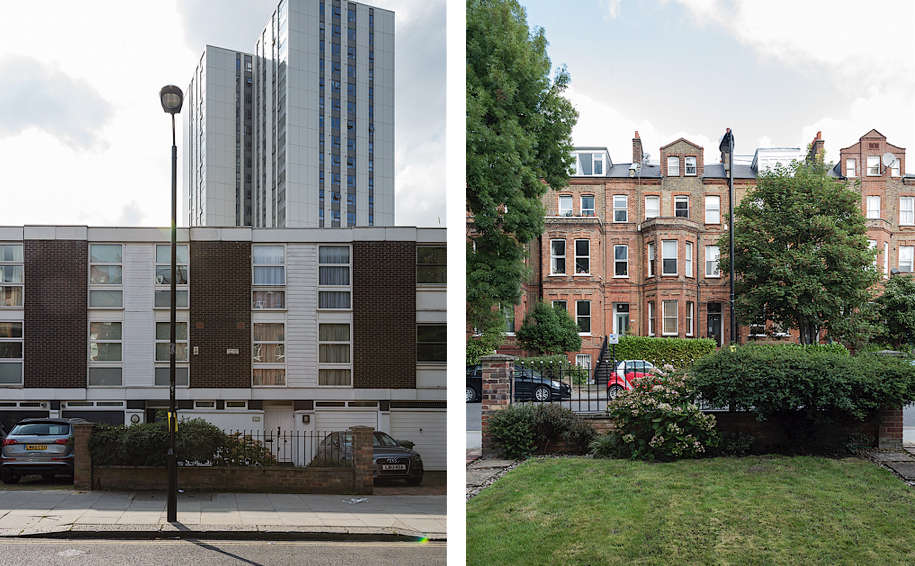 Modern terraced town houses and Victorian terrace town houses, Matthew Williams | Gardenista