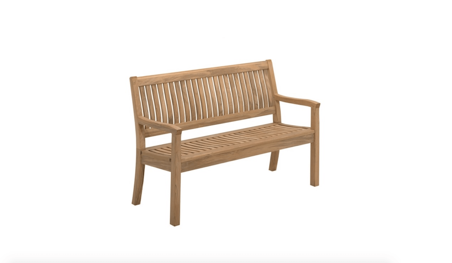 From Danish Designer Povl Eskildsen, A Kingston Teak Bench Is 52.5 Inches  Long And 24.5