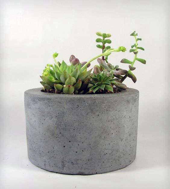 Concrete Garden Pots 10 easy pieces portable concrete pots gardenista gardenista concrete planter round workwithnaturefo