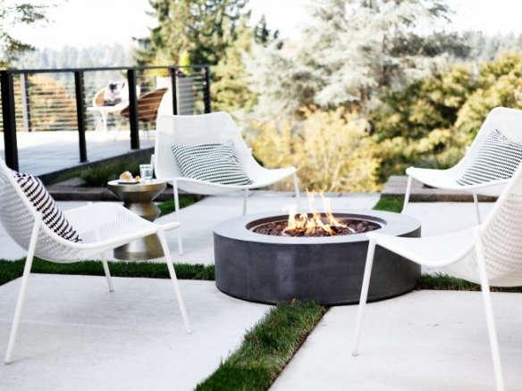 Topanga Natural Gas Round Fire Table