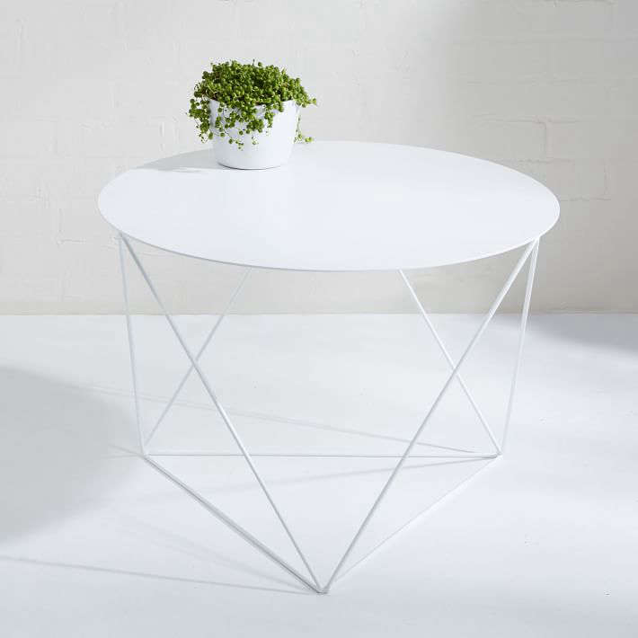 Eric Trine Octahedron Side Table White Gardenista