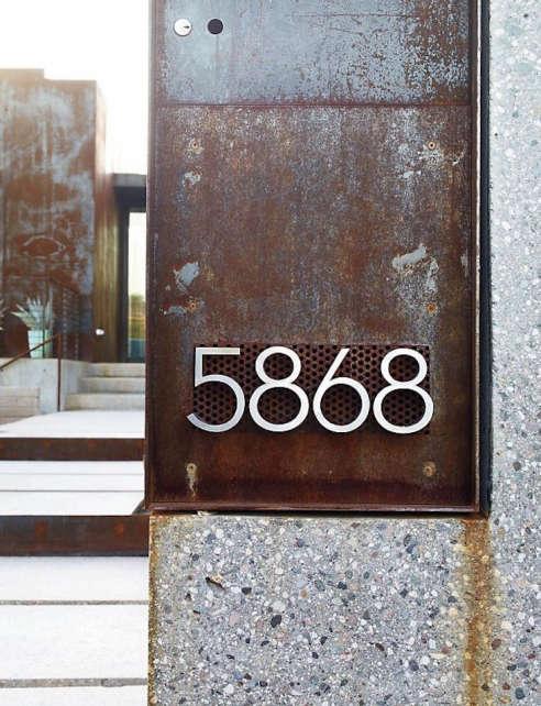 Neutra Modern House Numbers