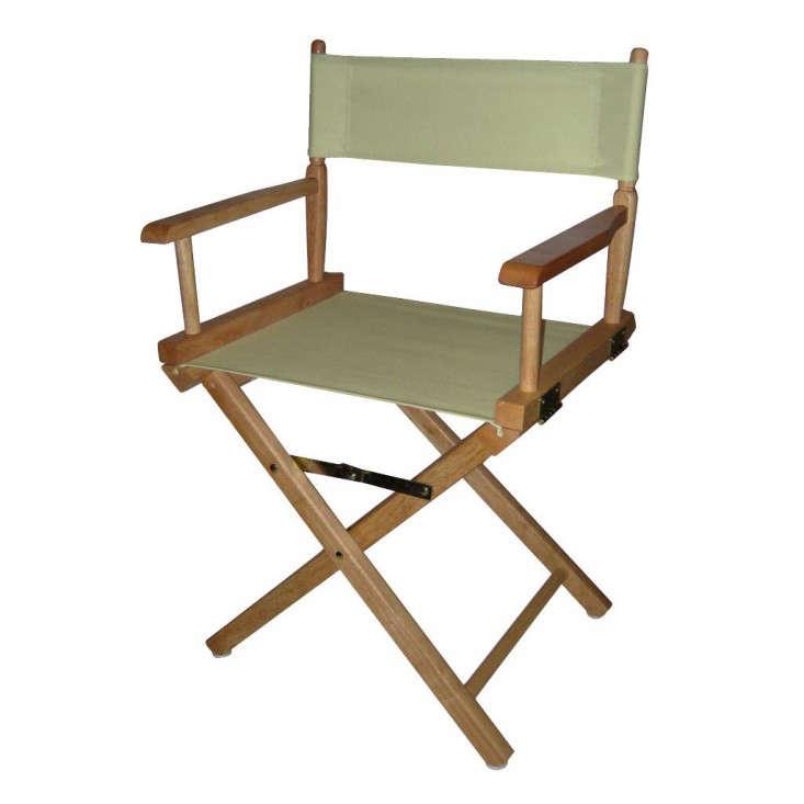 Elegant Folding Directors Chair Wood Frame Gardenista