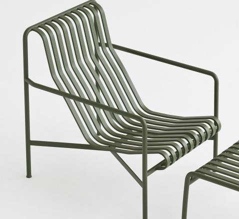 Hay Lounge Stoel.Hay Palissade Lounge Chair High