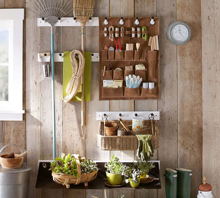 The Organized Life Garden Shed Storage System From