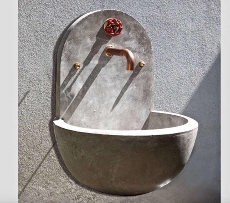 garden sinks. Hydra-concrete-utility-wall-sink-gardenista (1) Garden Sinks -