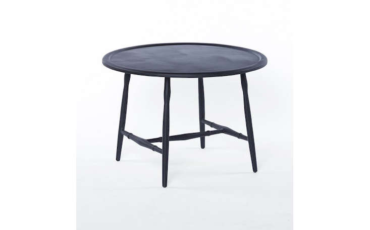 outdoor metal table. Modren Metal Roundblackmetaloutdoorcoffeetablegardenista Inside Outdoor Metal Table R