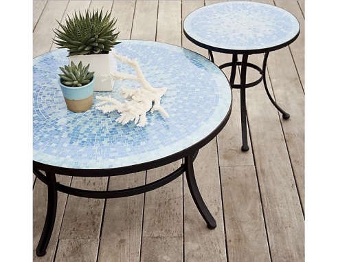 Mosaic Blue Coffee Table