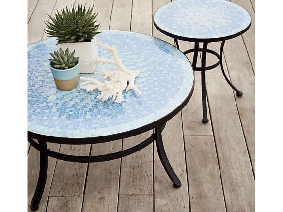 Garden Furniture Mosaic blue coffee table