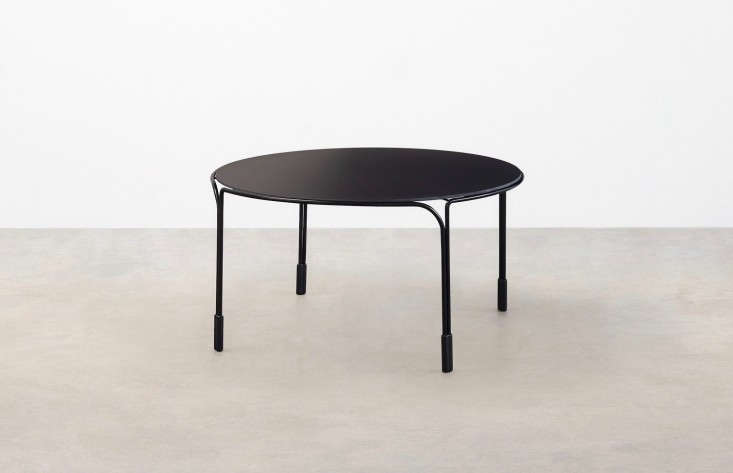 Round Metal Black Outdoor Coffee Table Gardenista