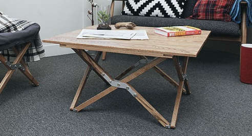 Vintage Campaign Folding Table   Low