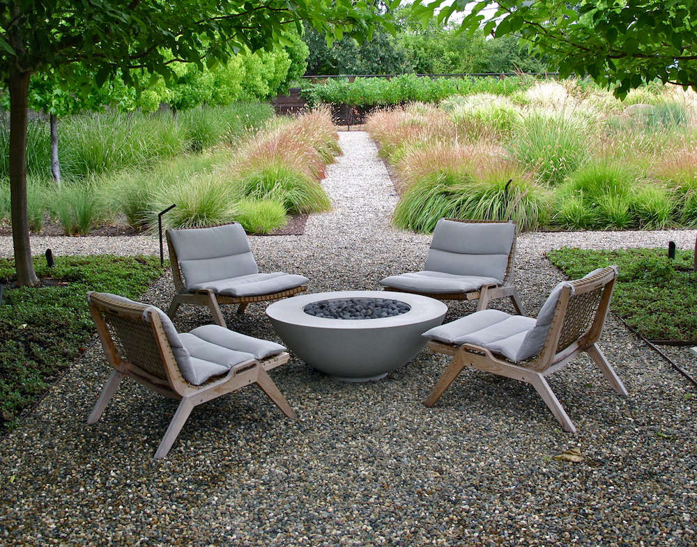 A decidedly not-cheap option for outdoor furniture is the well-made Serene line of sustainable teak pieces from Henry Hall Designs. Photograph by Scott Lewis Landscape Architecture, from Favorite Furniture: Sustainable Teak from an Italian Designer.