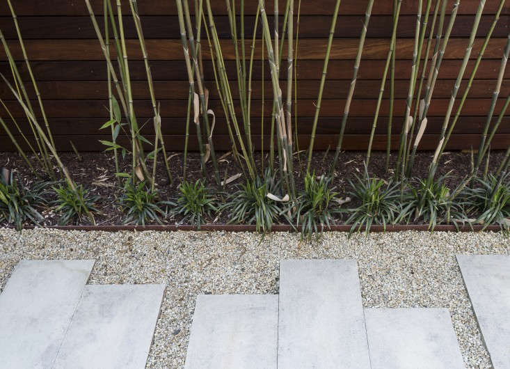 metal landscape edging steel gravel bamboo